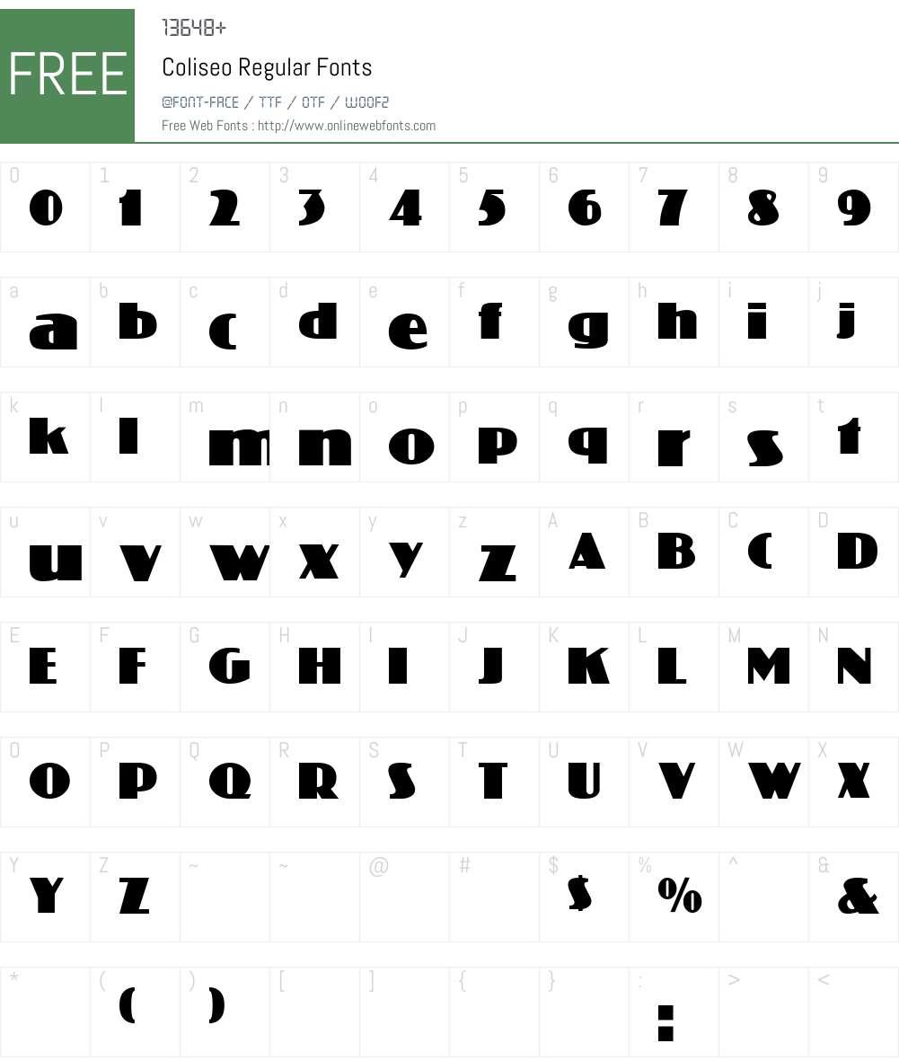 Coliseo Font Screenshots