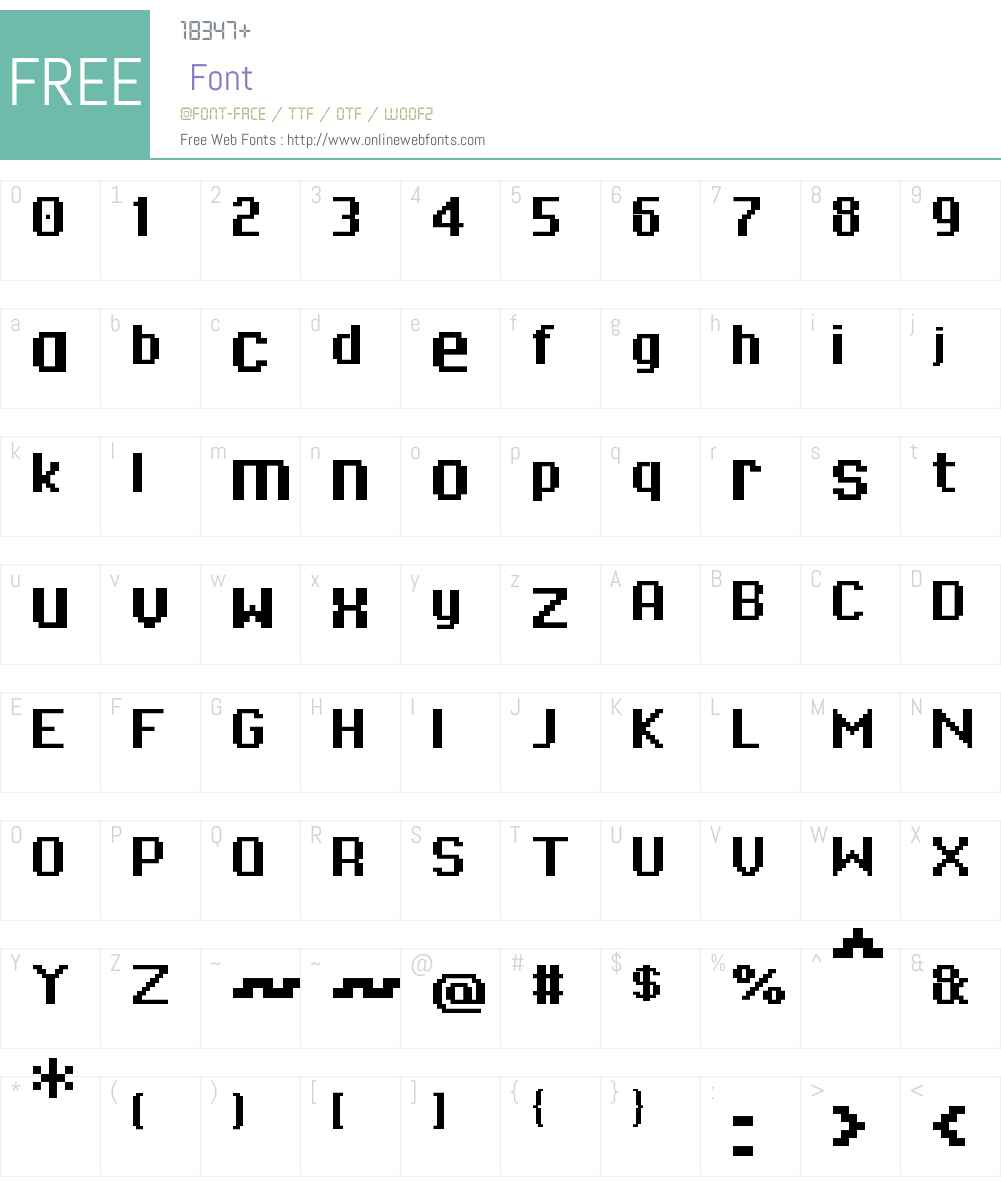 01Systematix9 Font Screenshots