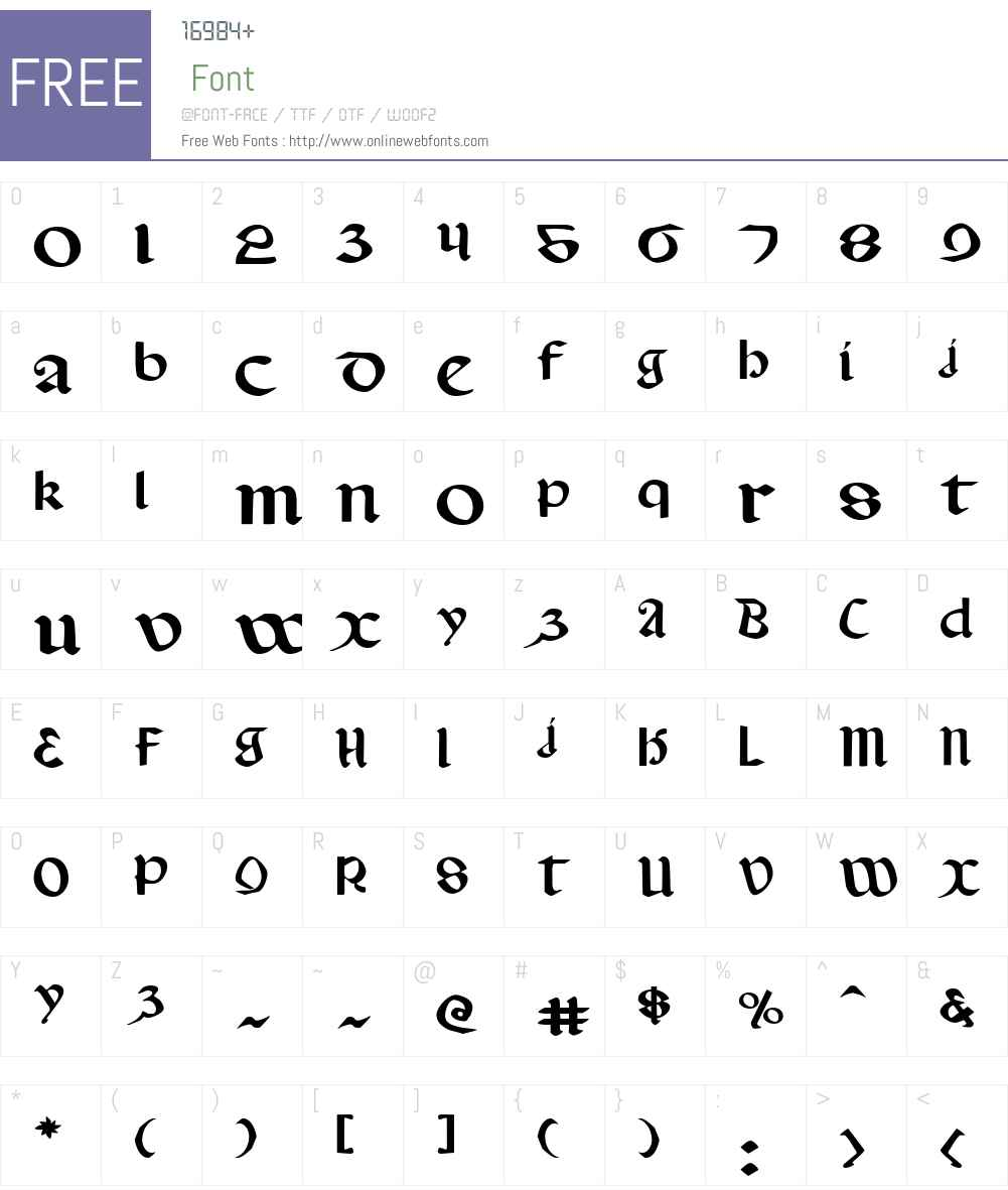 Valerius Expanded Font Screenshots