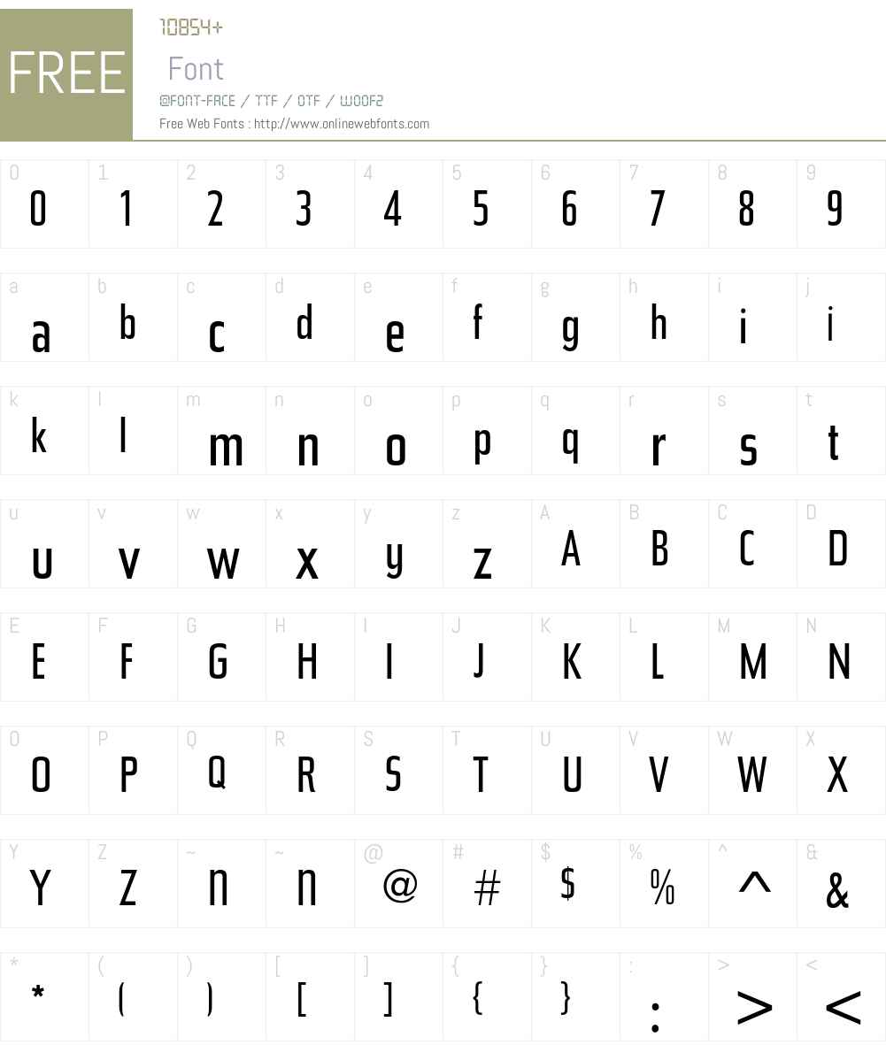 BauerTopic Font Screenshots