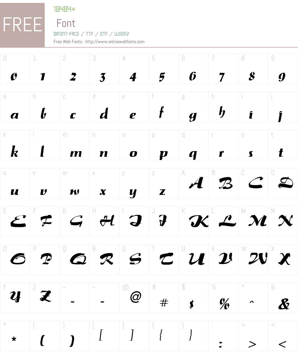 Paprika Font Screenshots
