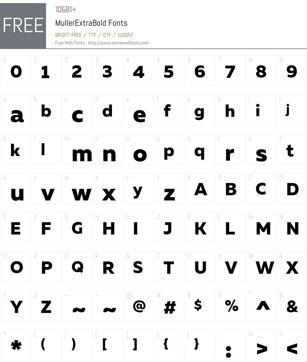 MullerExtraBold Font Screenshots