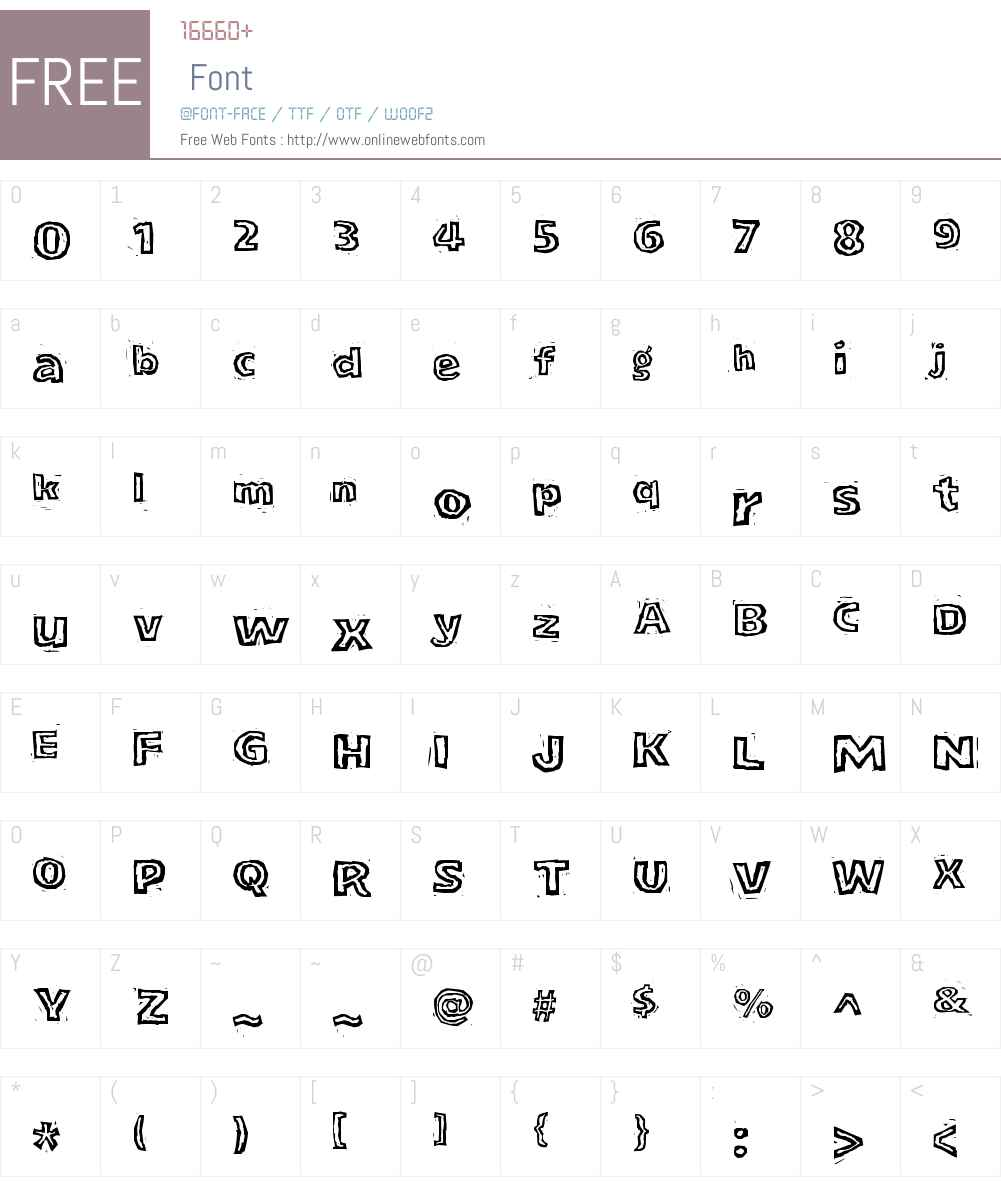 LogJamW00-Inline Font Screenshots