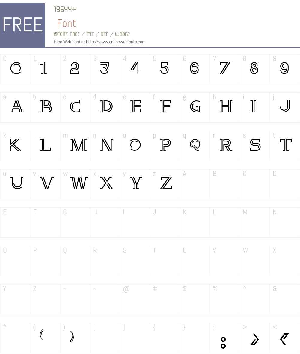 E Font Screenshots