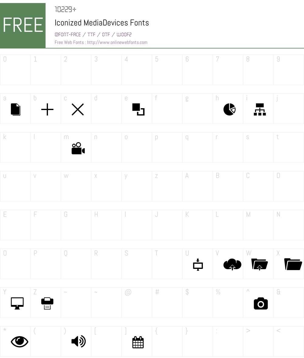 Iconized-MediaDevices Font Screenshots
