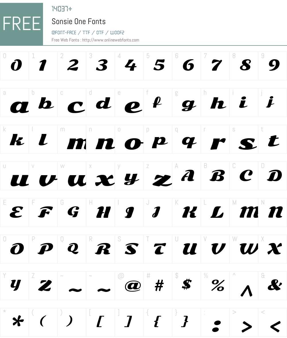 Sonsie One Font Screenshots