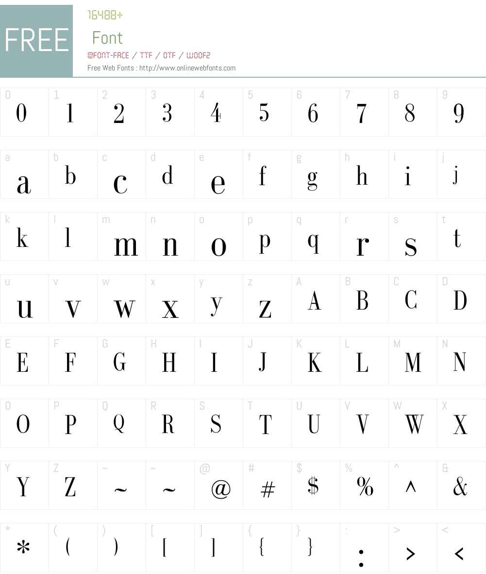 GalileoFLF Font Screenshots