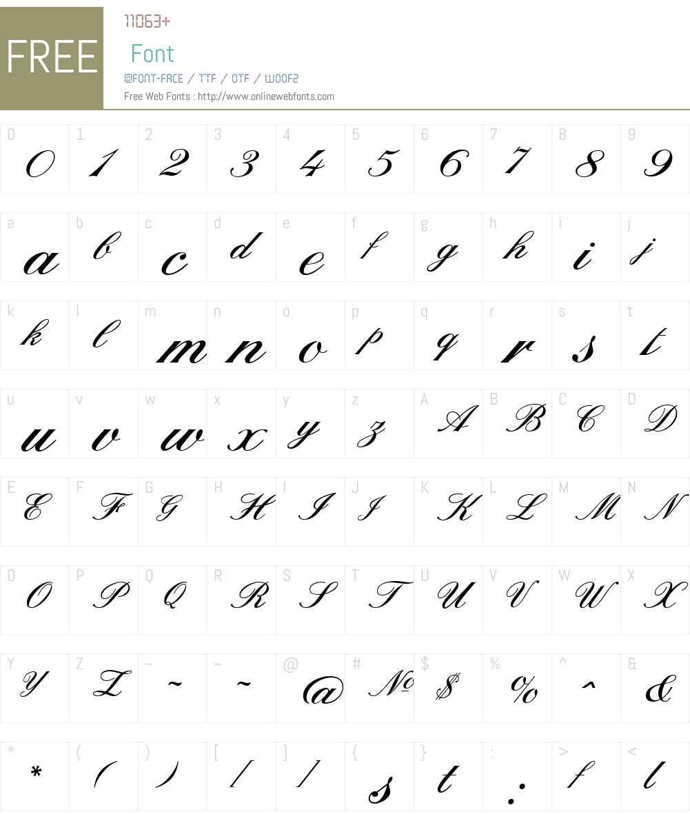 SterlingScriptW00-Regular Font Screenshots