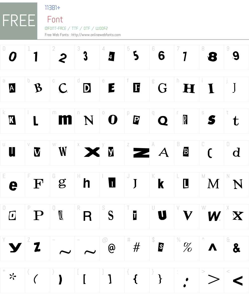 Demand Font Screenshots