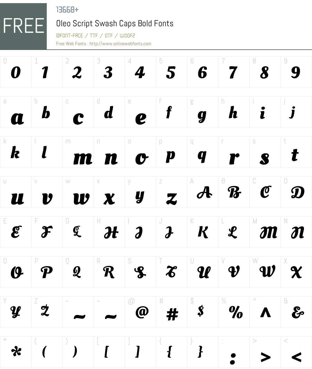 Oleo Script Swash Caps Font Screenshots