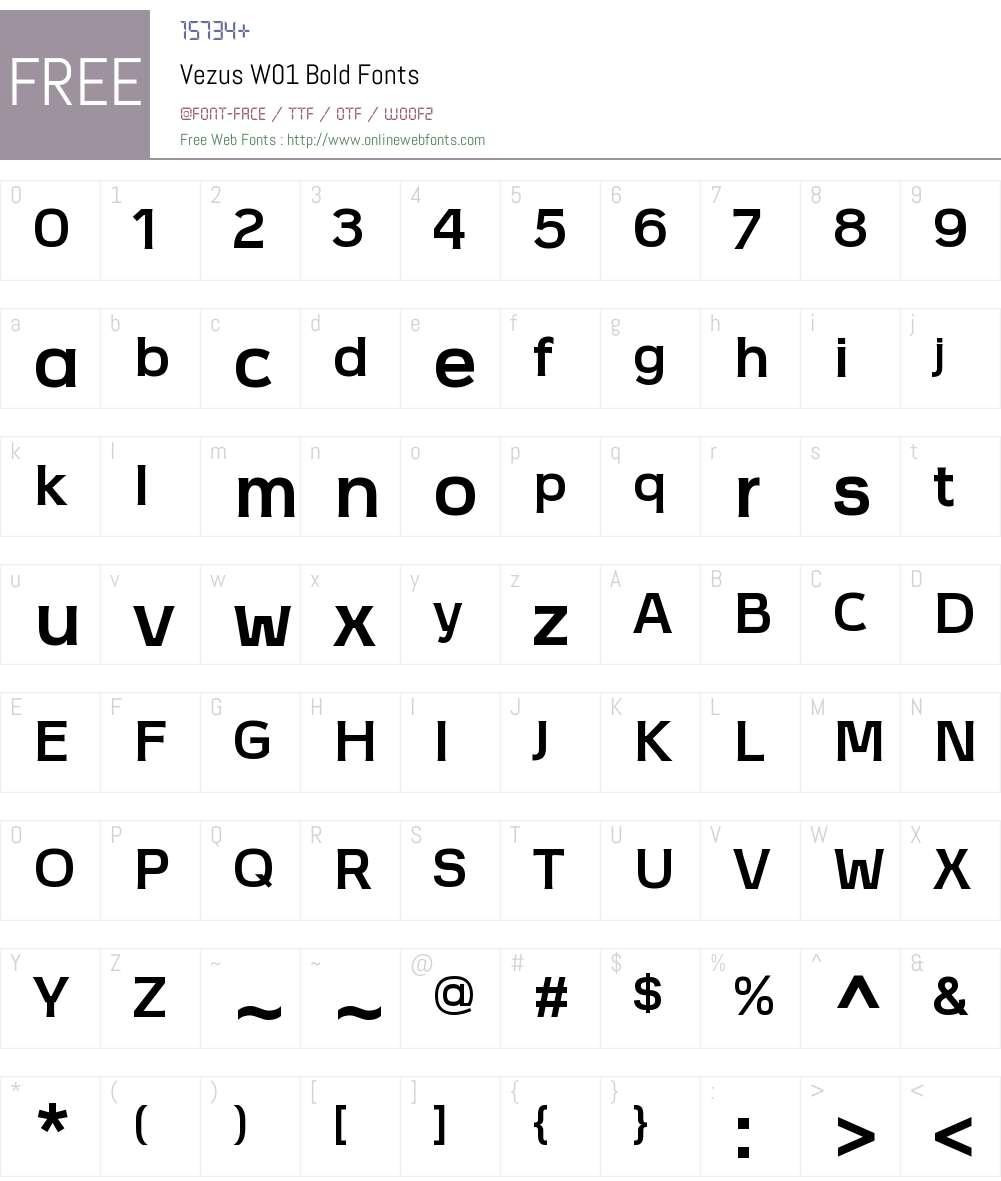 VezusW01-Bold Font Screenshots