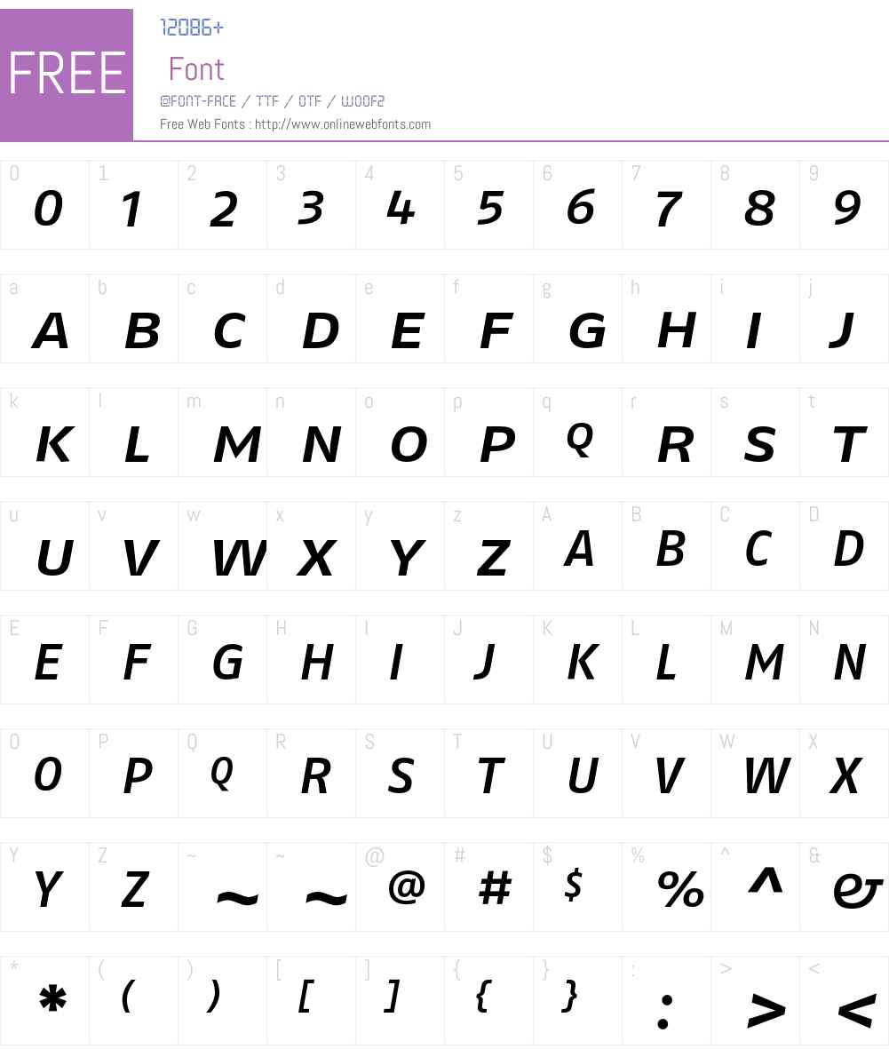 FagoExLf Font Screenshots