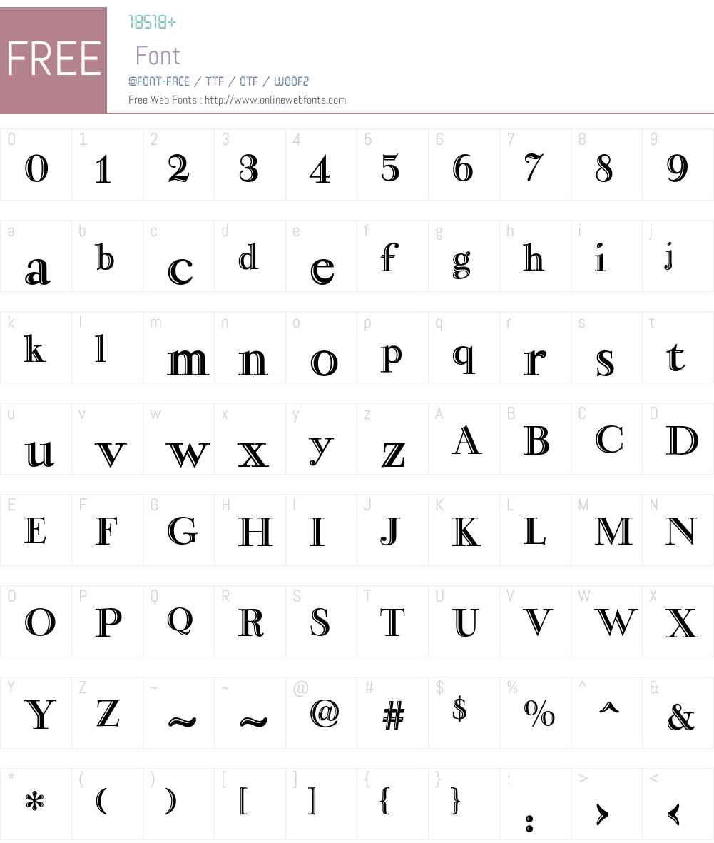 Narcissus Font Screenshots