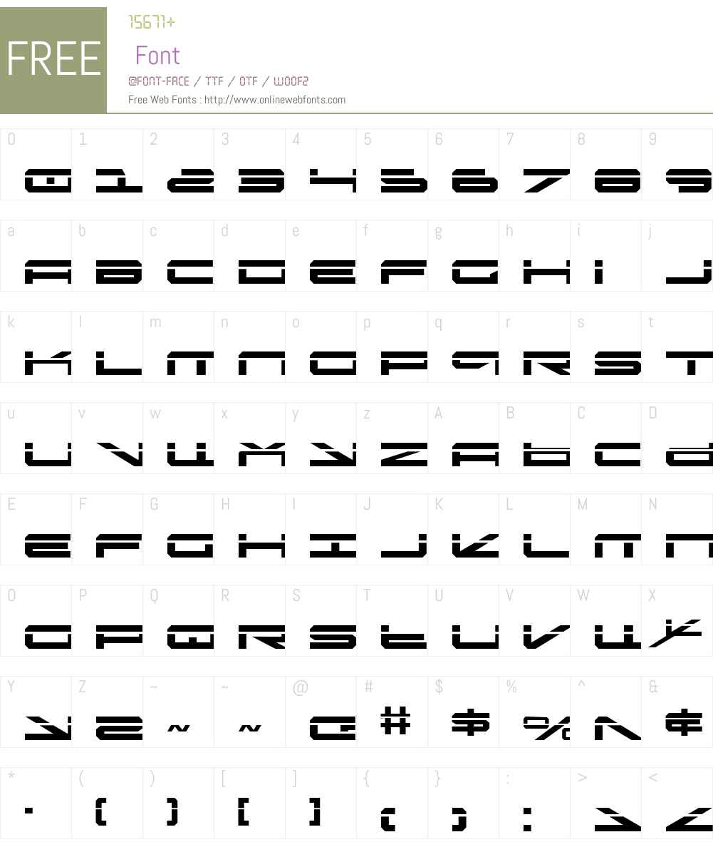 Oramac Laser Font Screenshots