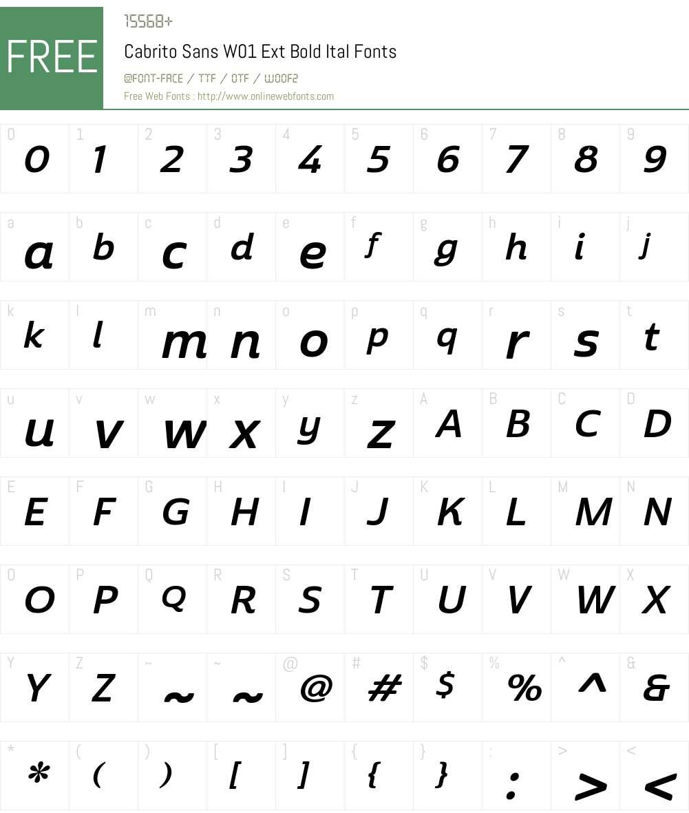 CabritoSansW01-ExtBoldItal Font Screenshots