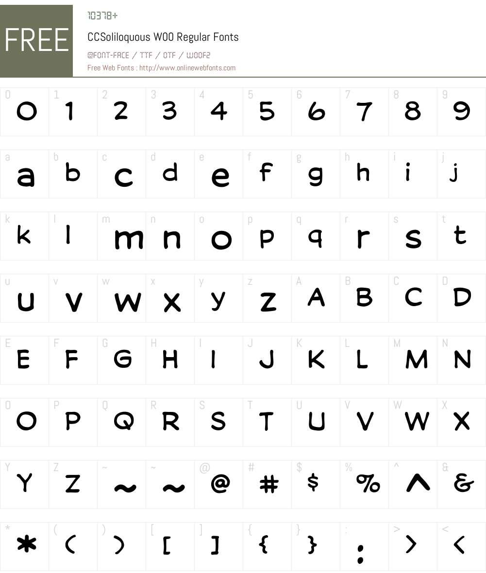 Soliloquous Font Screenshots