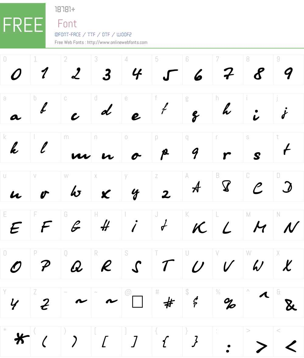 OlgaCTT Font Screenshots