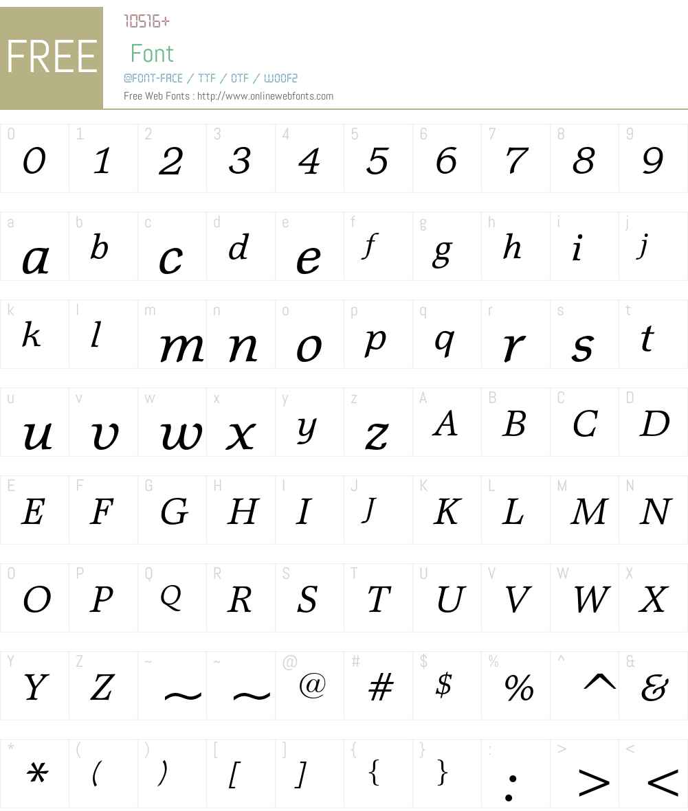 Matt Antique Font Screenshots