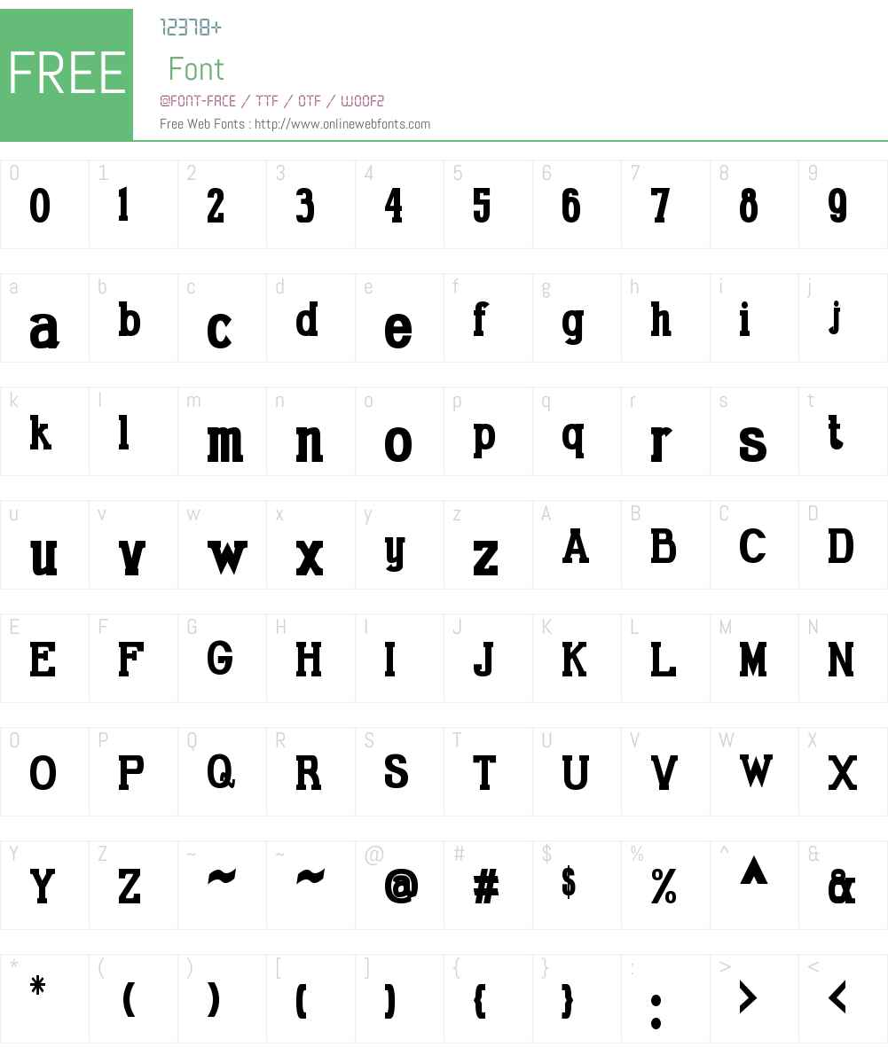 Gabriel Serif Condensed Font Screenshots
