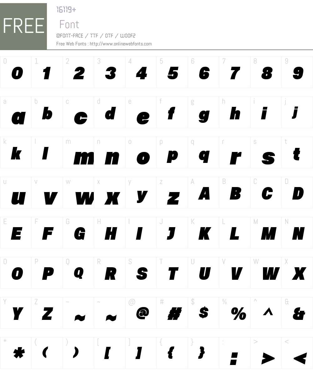 UninstaW00-BlackItalic Font Screenshots