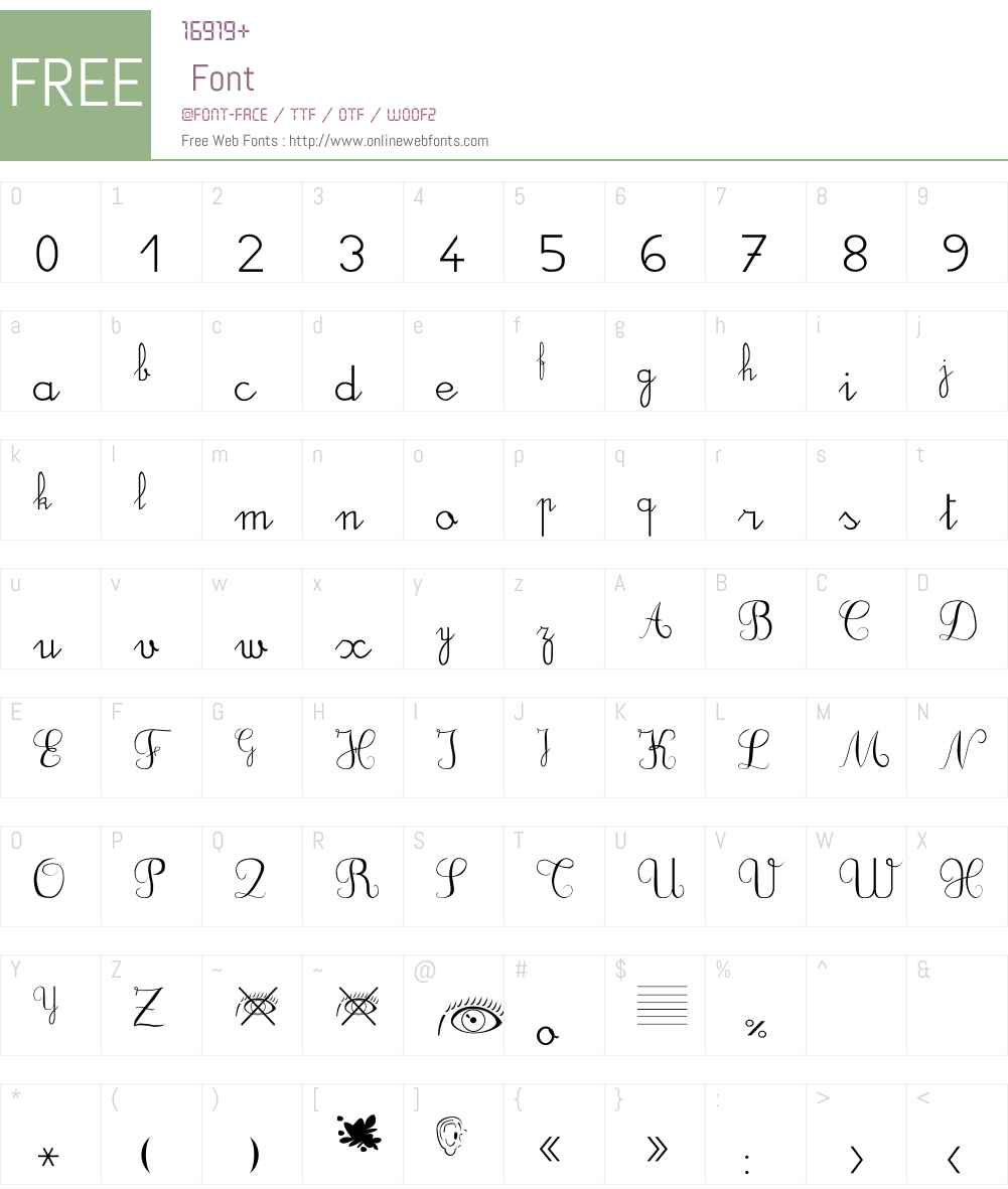 DuCahier 2 Font Screenshots