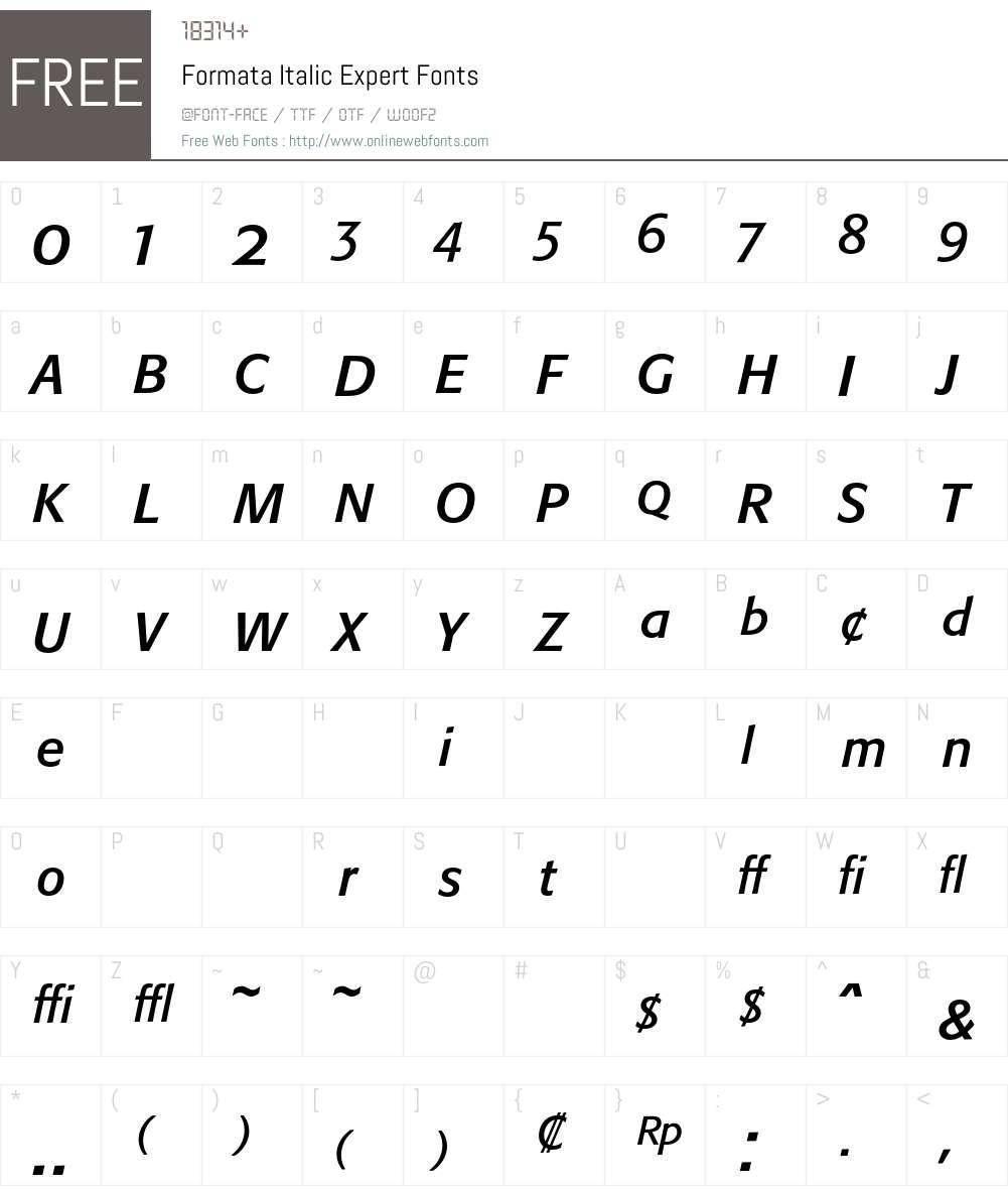 Formata Font Screenshots