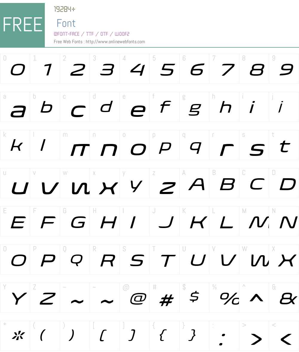 BiomeW01-WideItalic Font Screenshots