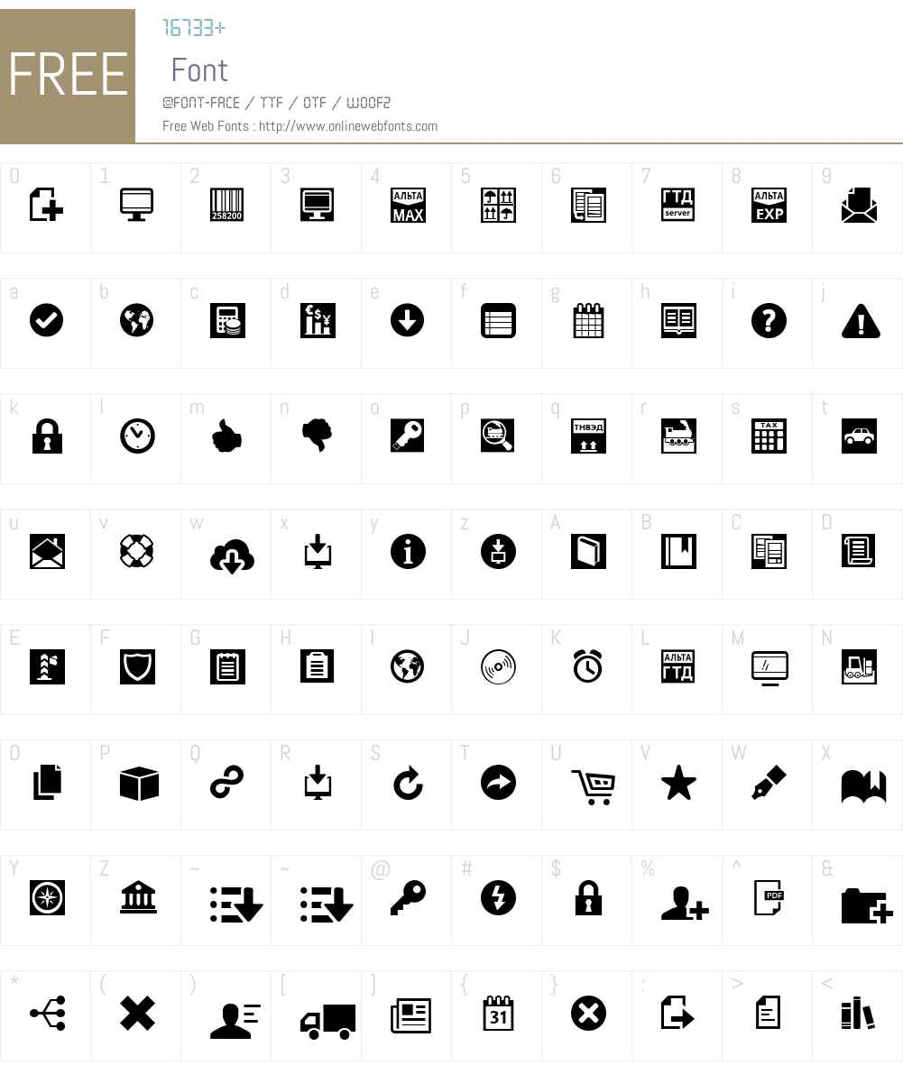 Alta Font Screenshots