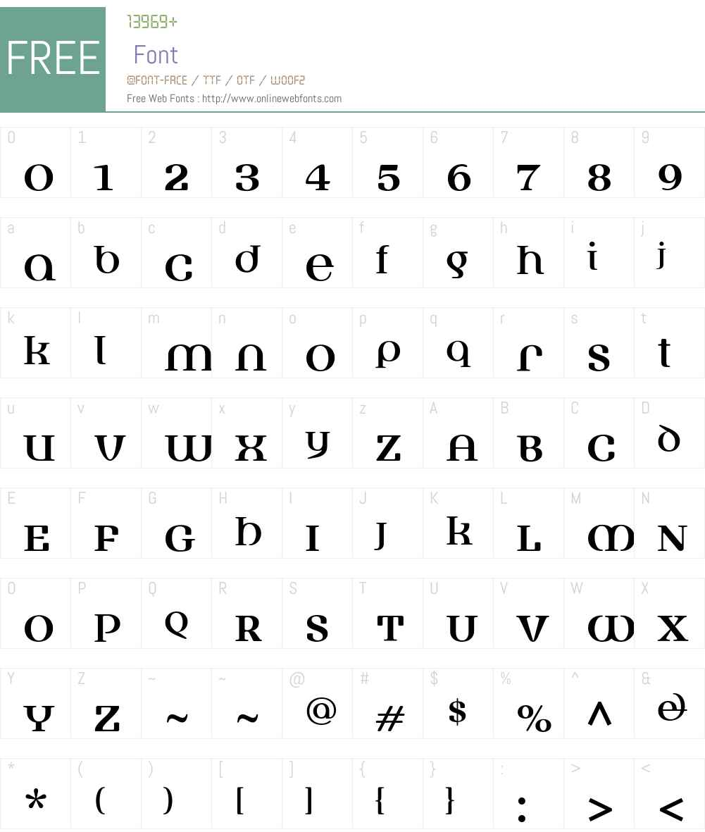 FusionW00-Regular Font Screenshots