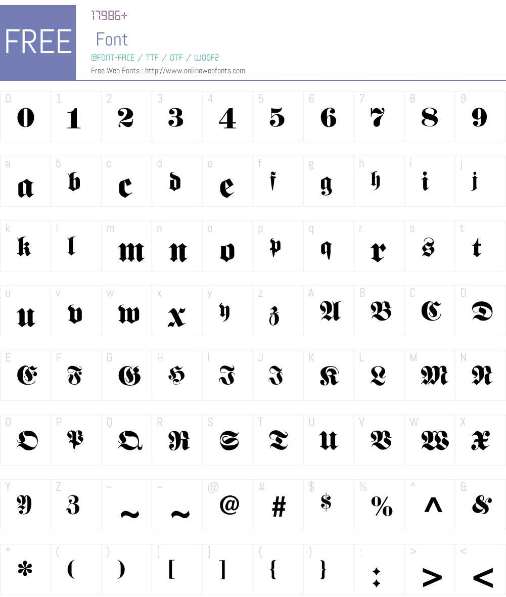 Varederoktur-Normal Font Screenshots
