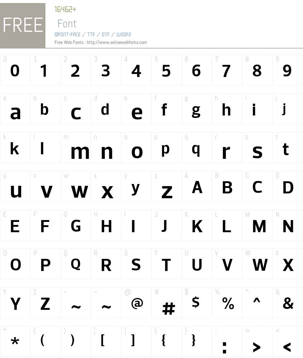 PreloW01-Bold Font Screenshots