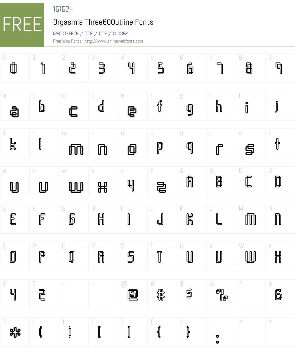 Orgasmia Font Screenshots