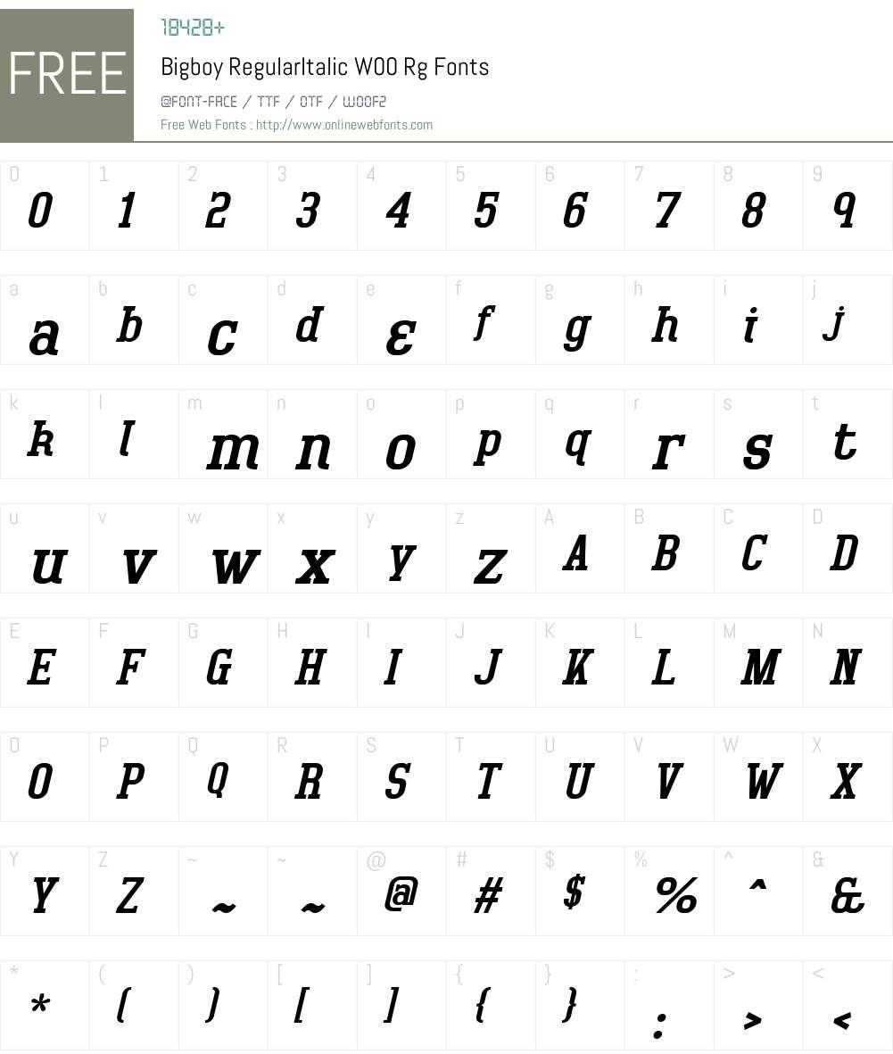 Bigboy Font Screenshots
