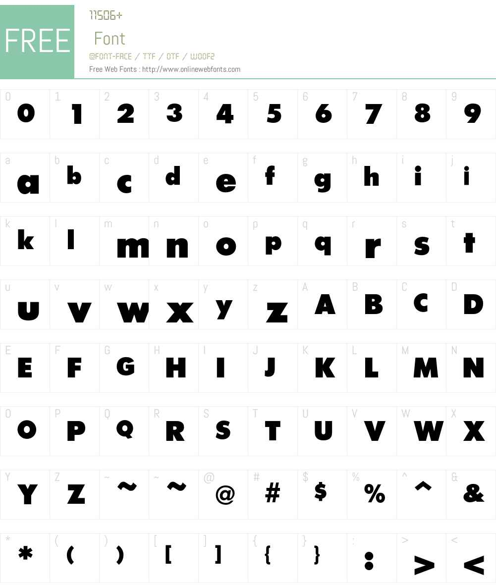 FuturaICG Font Screenshots