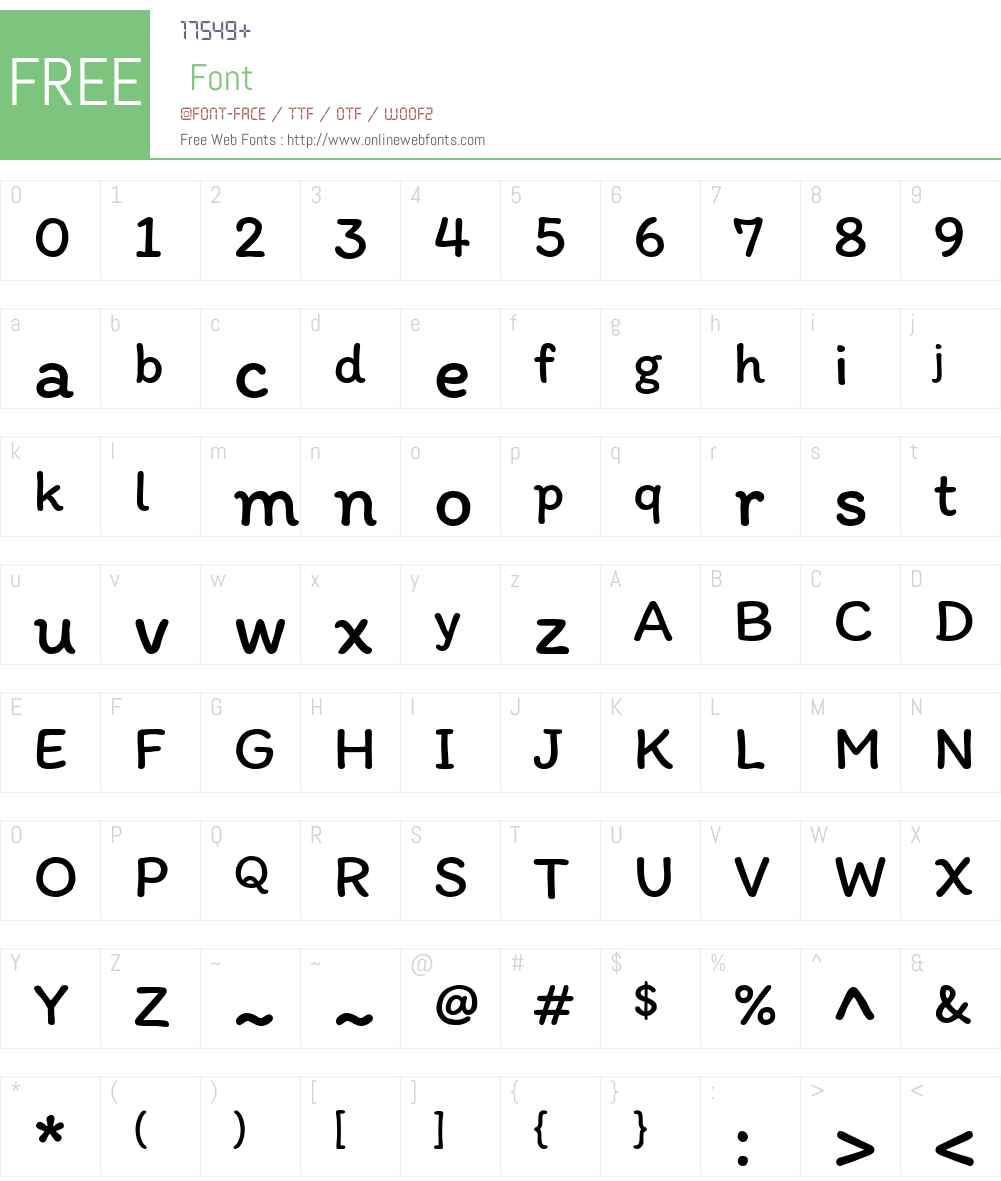 Itim Font Screenshots