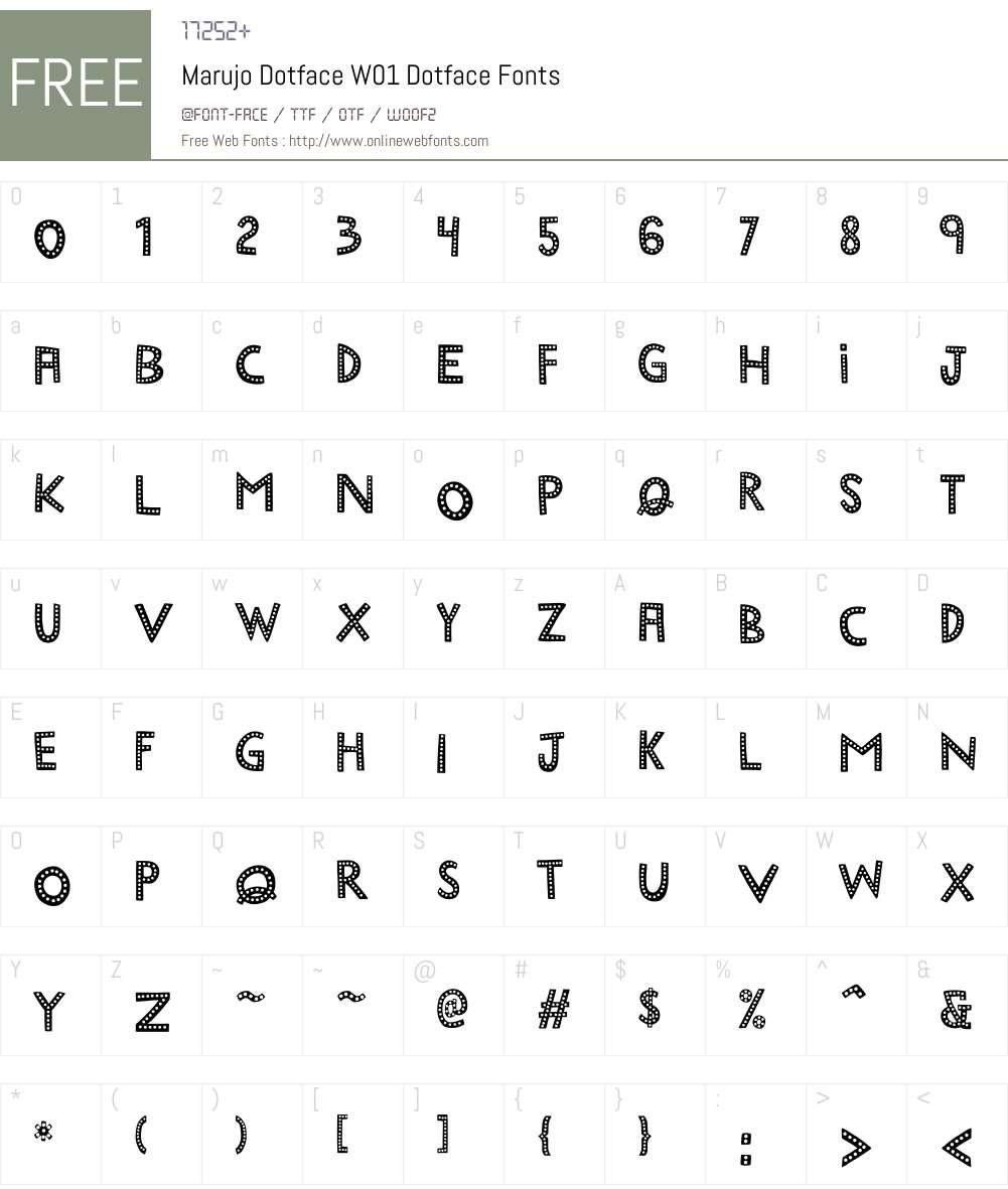 MarujoDotfaceW01-Dotface Font Screenshots