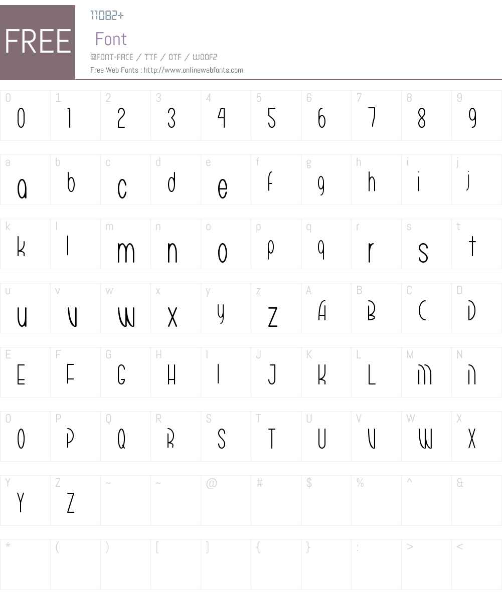 Mariko Chan Thin Font Screenshots