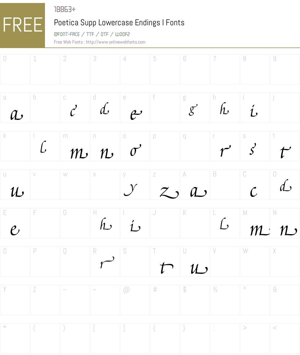 Poetica Font Screenshots