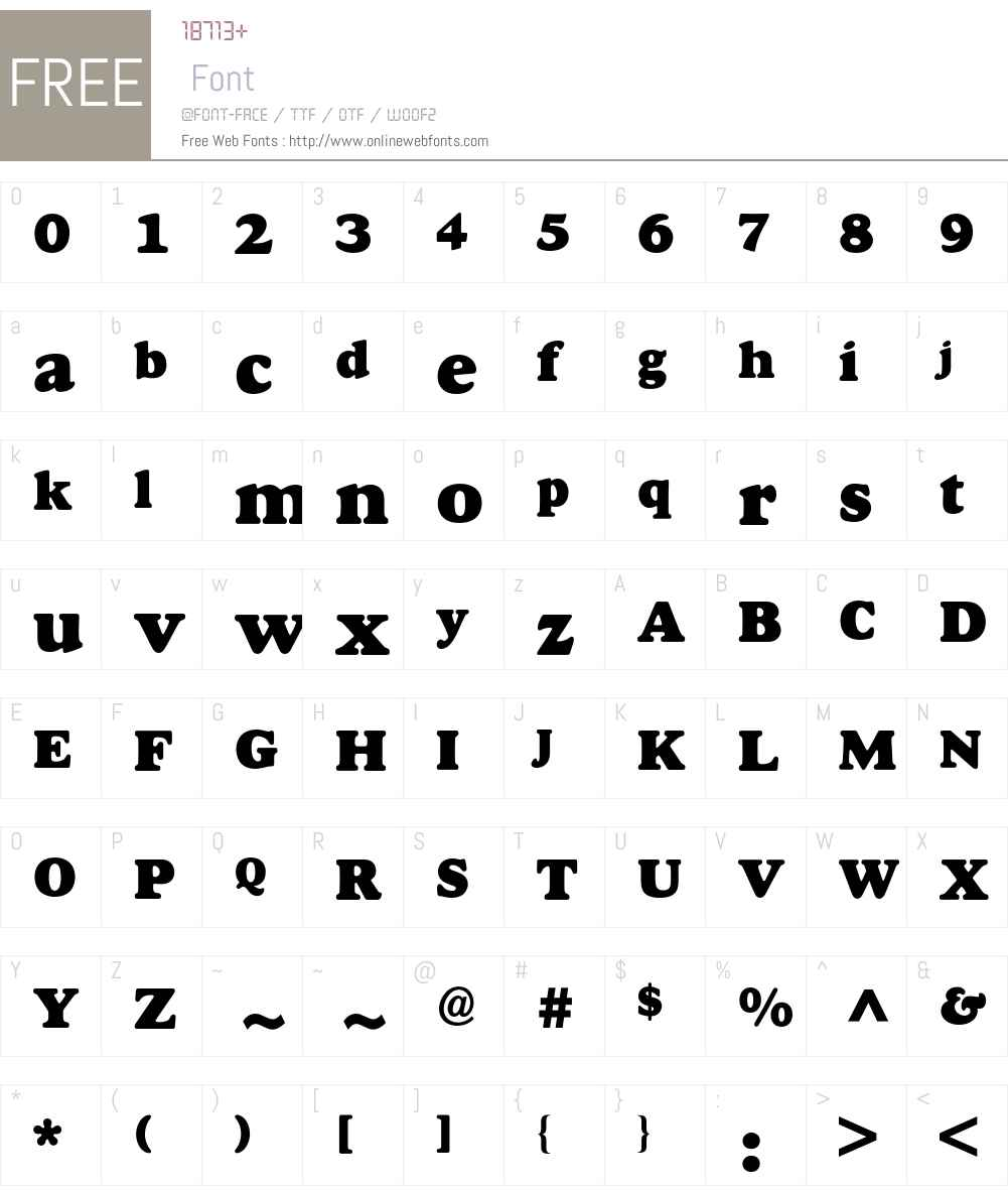 Goudy BQ Font Screenshots