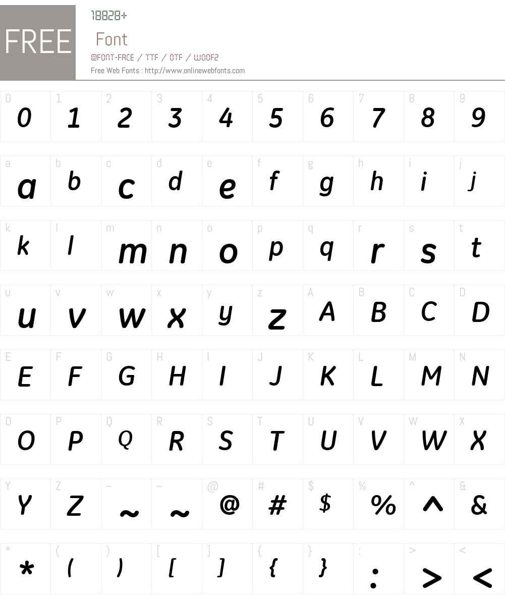 GE Inspira Font Screenshots