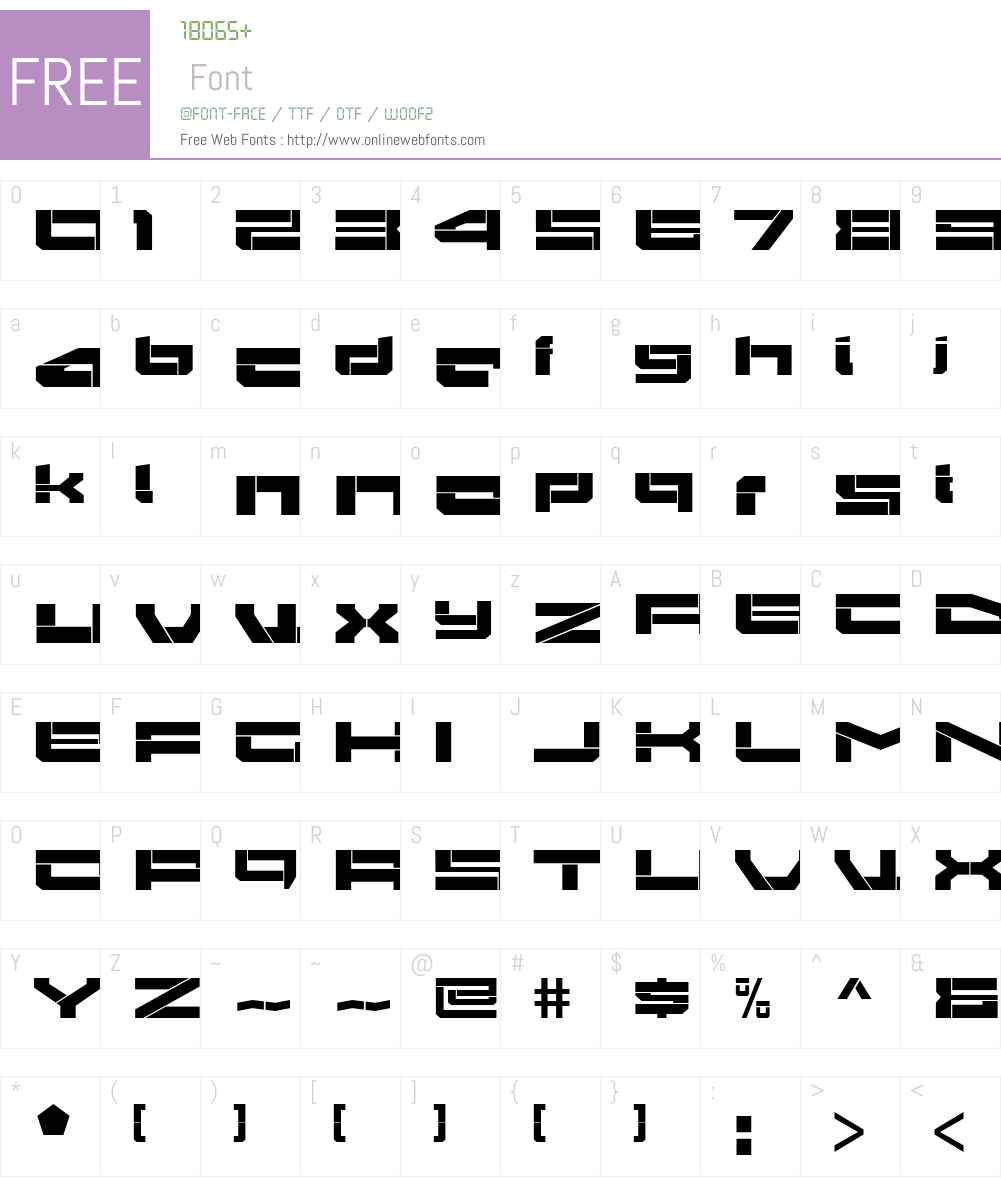 Gendouki Font Screenshots