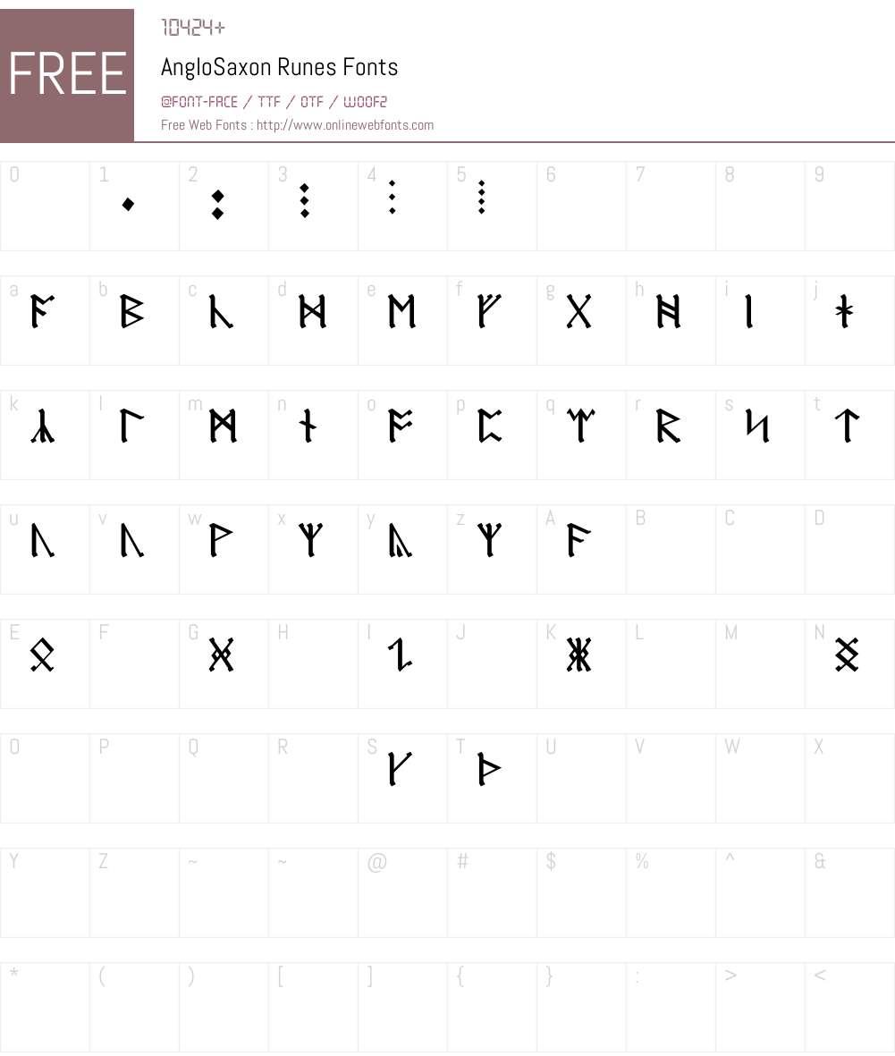 AngloSaxon Runes Font Screenshots