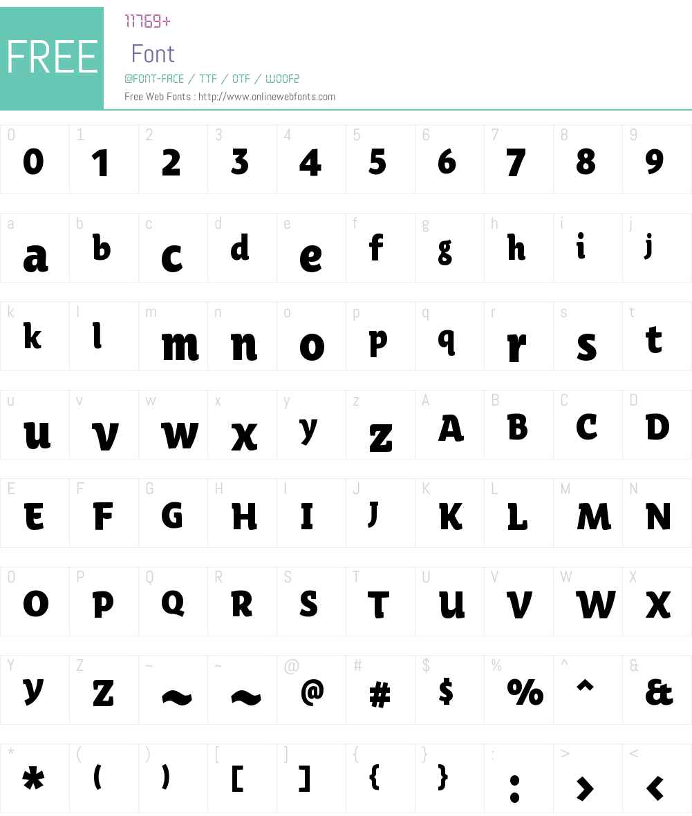 Oksana Text Narrow Heavy Font Screenshots