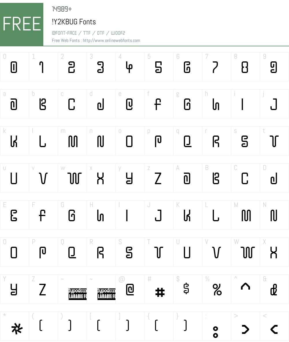 !Y2KBUG Font Screenshots