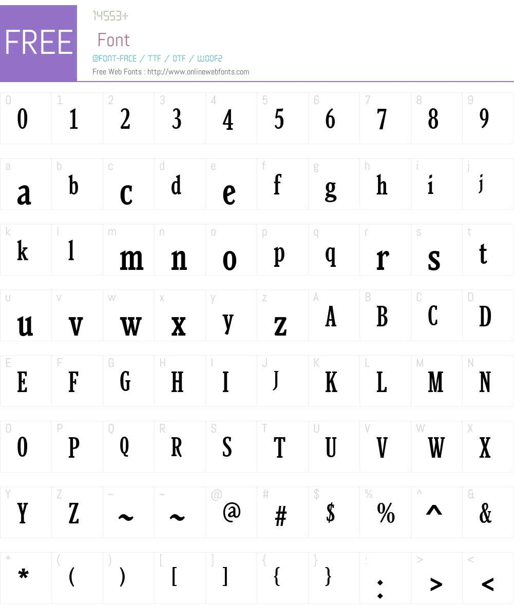 BeniciaW01-MediumCond Font Screenshots