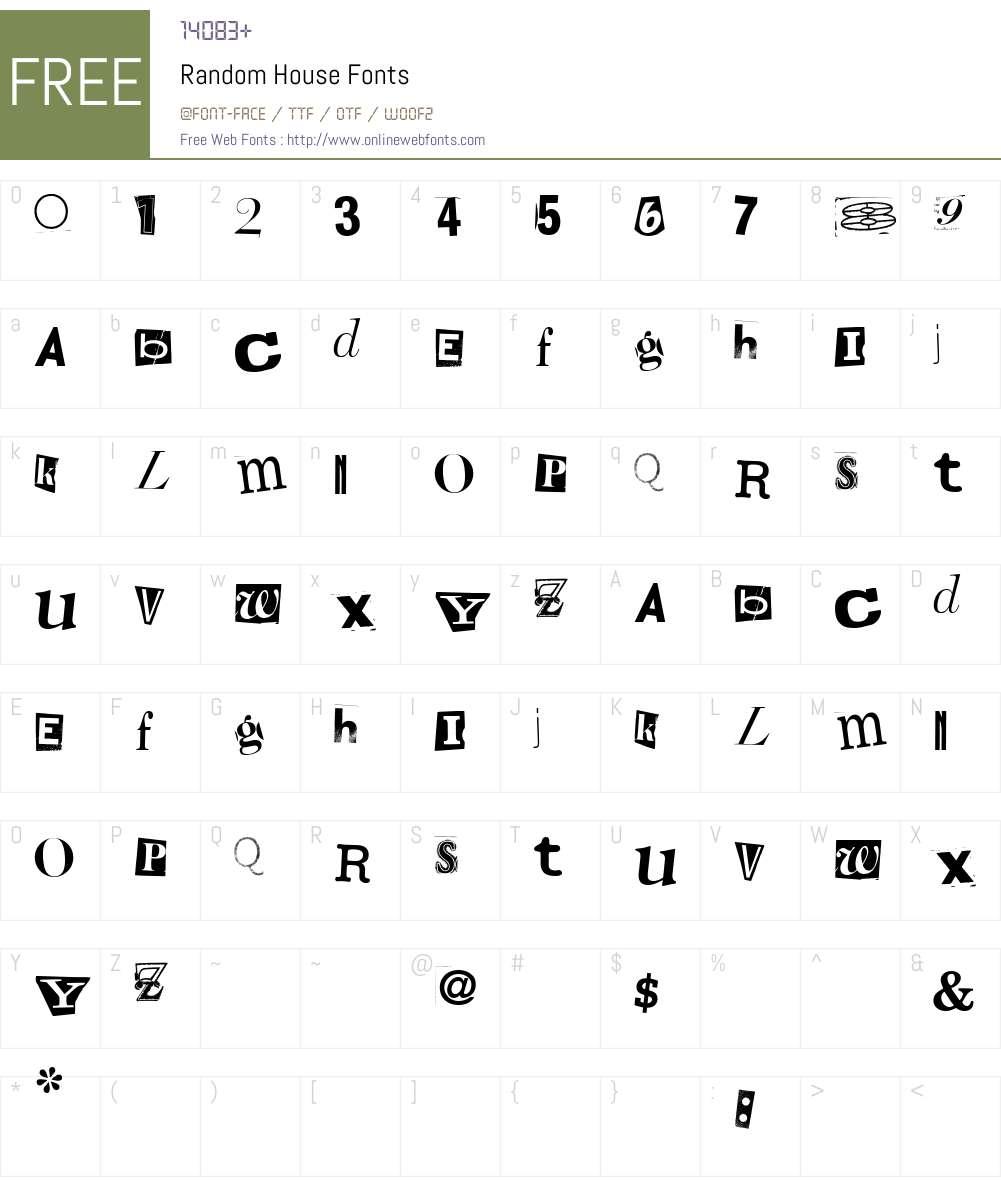 Random House Font Screenshots