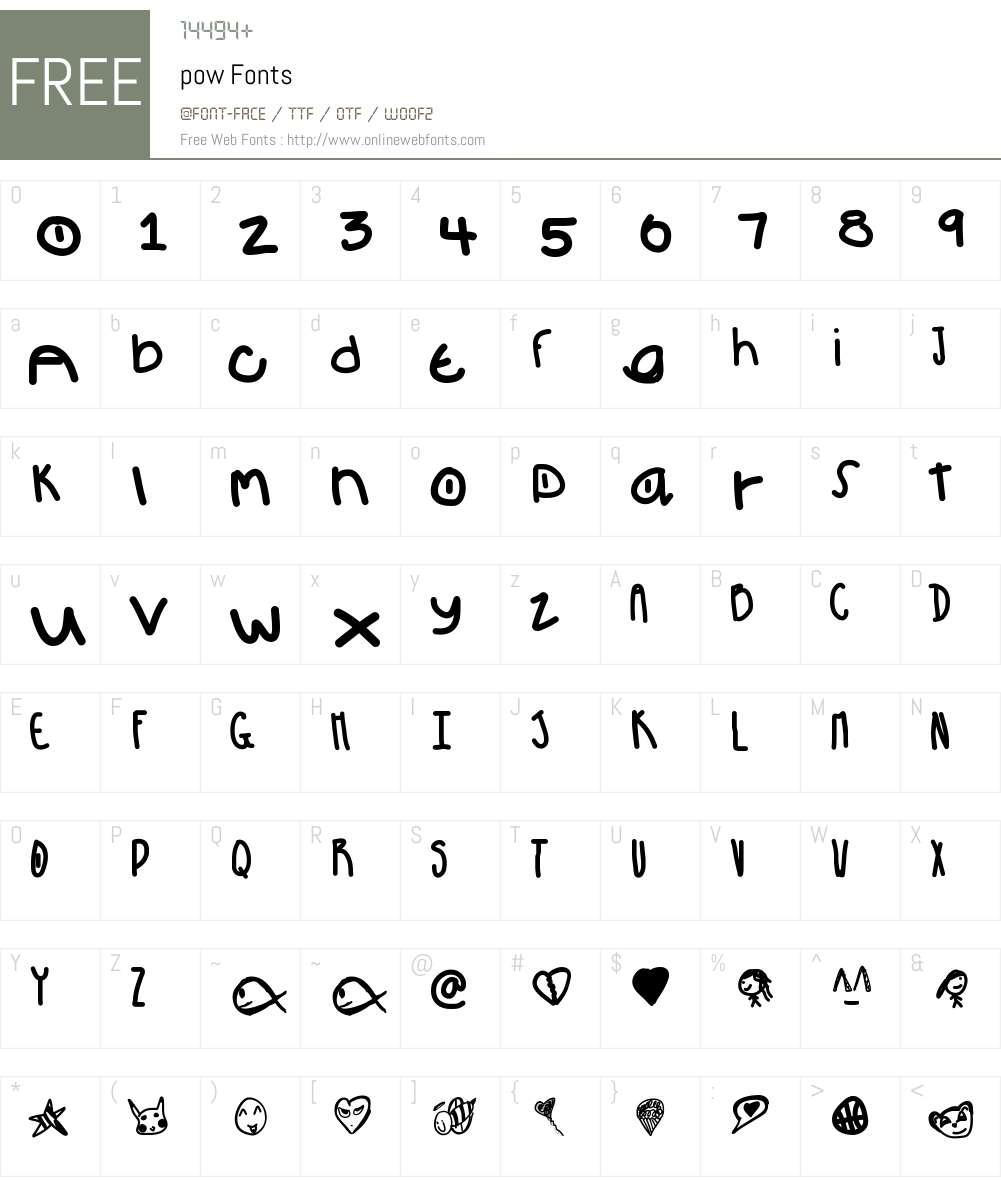 pow Font Screenshots