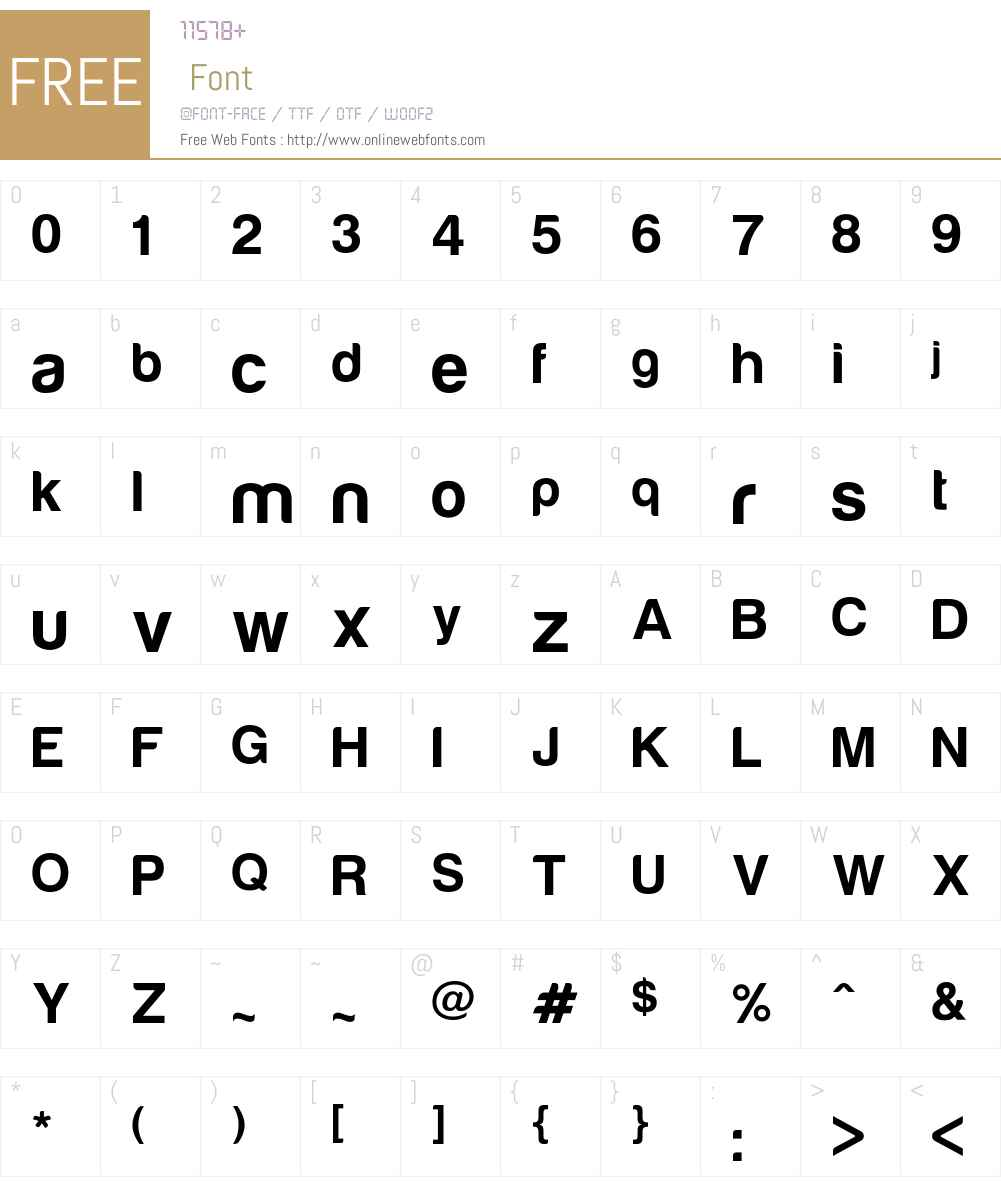 Harabara Font Screenshots