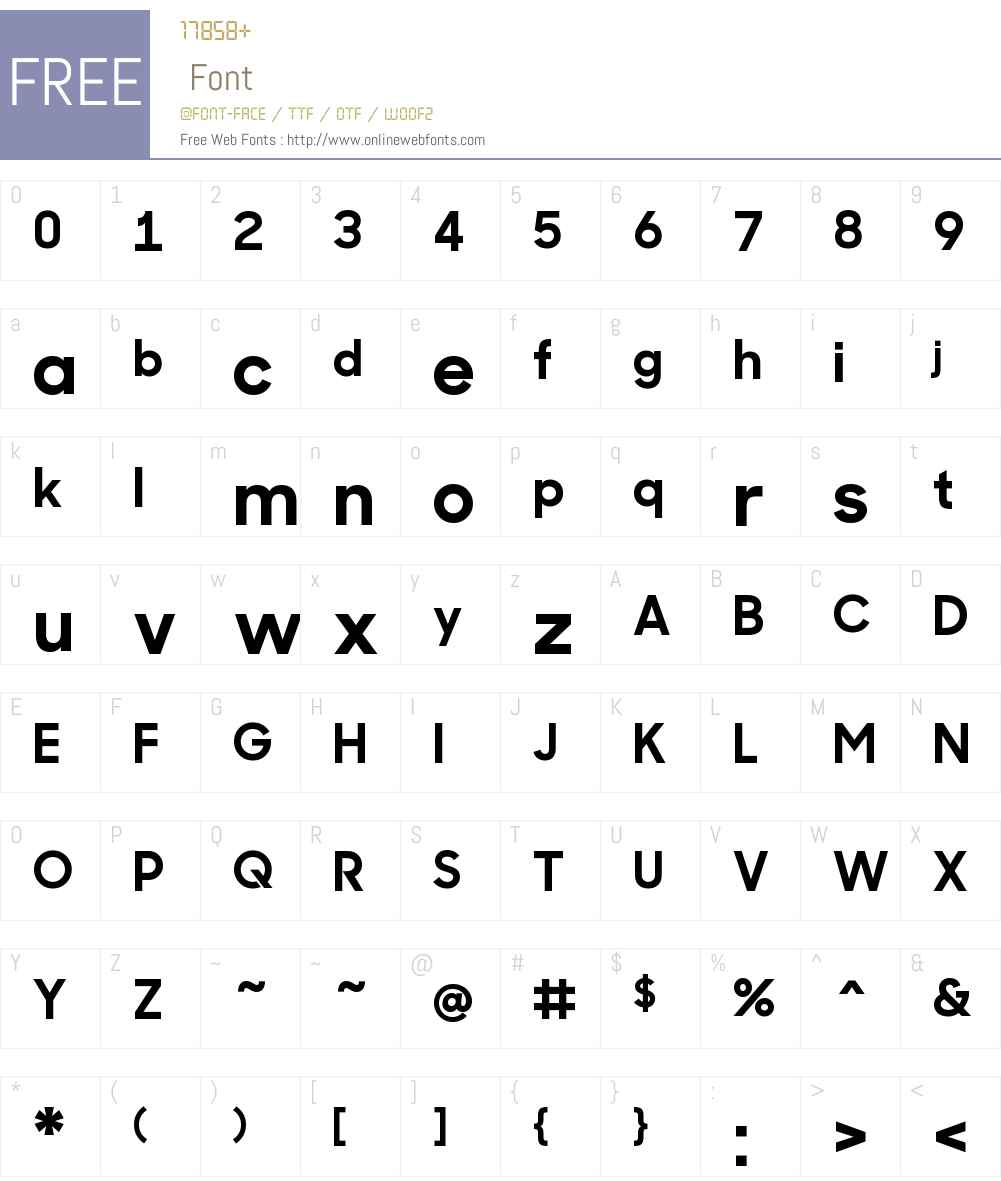 Sharp Sans No1 Bold Font Screenshots