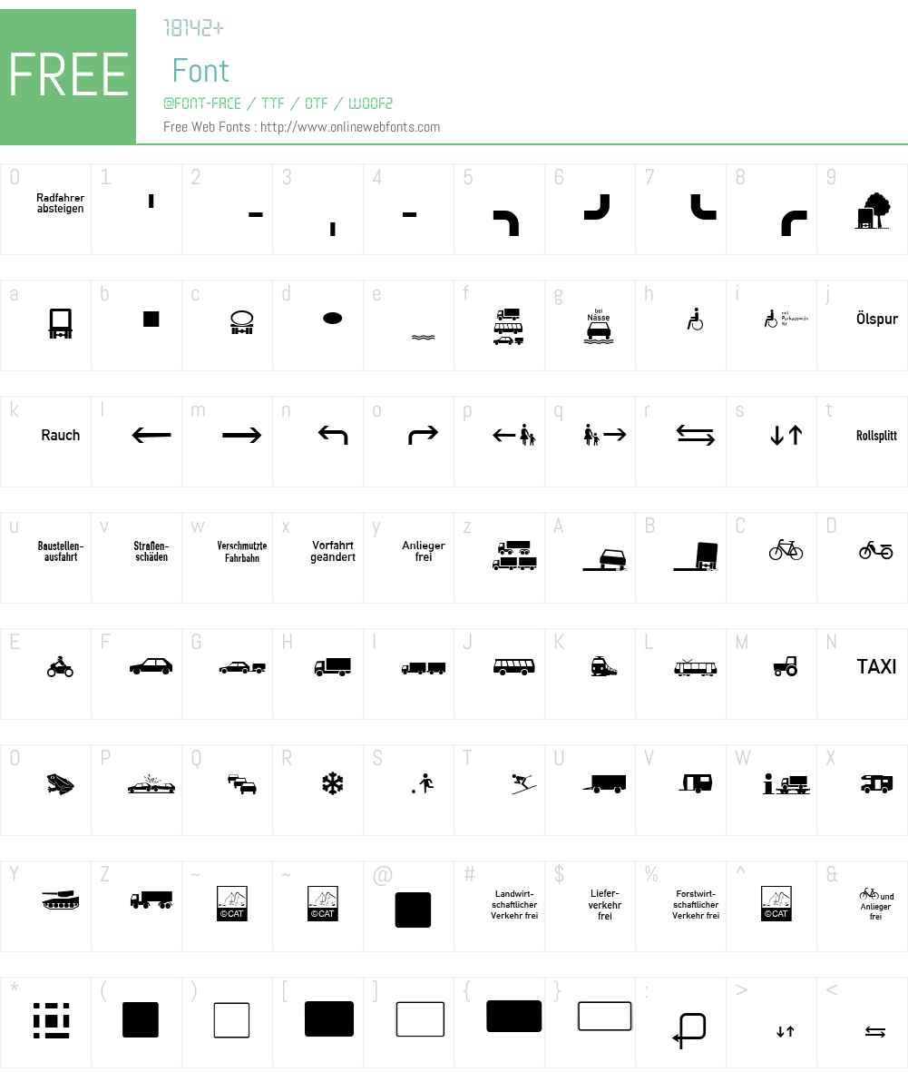 Zeichen Vierhundert Font Screenshots